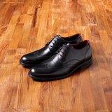 Vanger 優雅美型‧簡尚雅紳翼紋雕花仕鞋║Va180百搭黑 台灣製