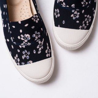 [fruit fruit day] indigo floral cloth / Japanese style cloth shoes / doll shoes