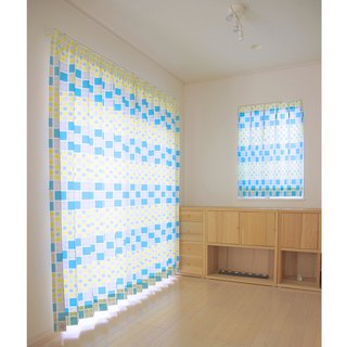 "【Custom made curtains】""Yuki"" Yellow"