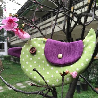 Green little happiness Bluebird / purse