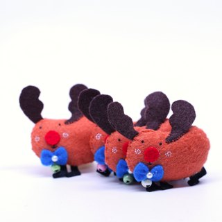Christmas limited 蹦蹦 reindeer pin / charm / strong magnet exchange gift