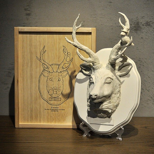 Matai gentleman deer and birds Polk / hardcover collection of the wooden box limited edition set