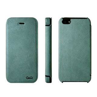 Optima iPhone 5/5s/SE Side Clamshell Knitted Lake Green