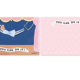 YOU CAN DO IT! Illustration Postcard / Card