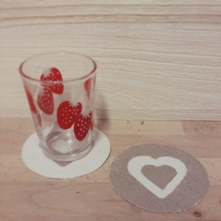 Love absorbent coasters (2 in)