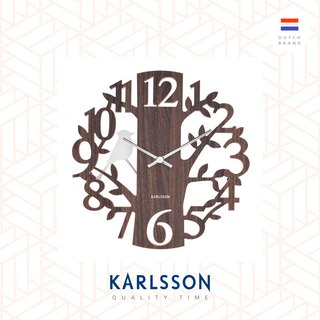 Karlsson, Wall clock woodpecker MDF brown (Pendulum)