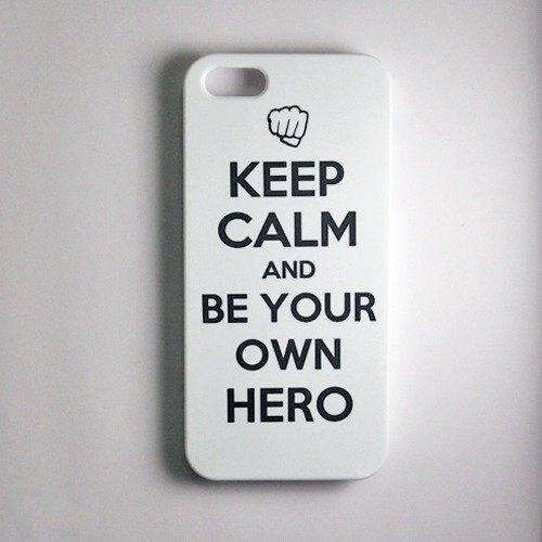 SO GEEK phone shell design brand THE KEEP CALM GEEK BE YOUR OWN HERO paragraph