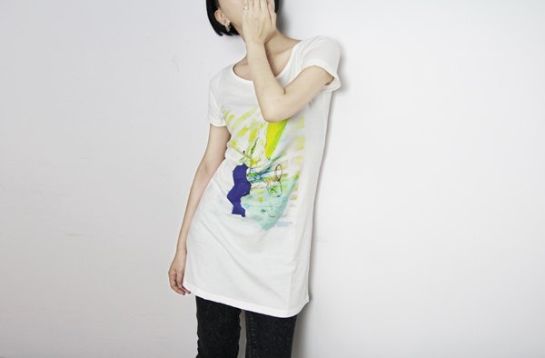 I. A. N Design & rabbit long whale organic cotton short-sleeved T Organic Cotton S / M