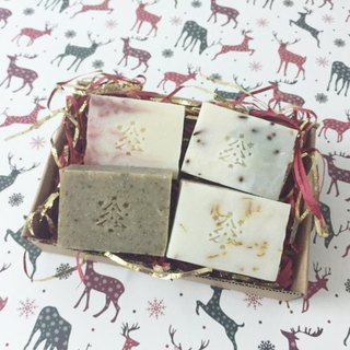 ♥ Christmas gift exchange limited group of four handmade soaps ♥