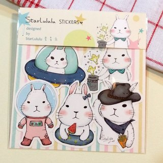 Waterproof Sticker / Meng Meng White Rabbit / Group 3 (5 in)