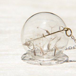 / Forest Girl / UK Department of transparent glass ball necklace - Dandelion Forest