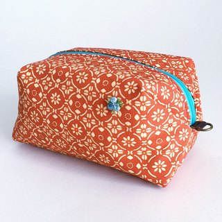 Pouch with Japanese Traditional Pattern, Kimono (Large)