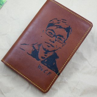 APEE leather handmade ~ extension like passport holder ~ brown