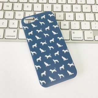 Deep Blue Dog Pattern Print Soft / Hard Case for iPhone X,  iPhone 8,  iPhone 8 Plus,  iPhone 7 case, iPhone 7 Plus case, iPhone 6/6S, iPhone 6/6S Plus, Samsung Galaxy Note 7 case, Note 5 case, S7 Edge case, S7 case