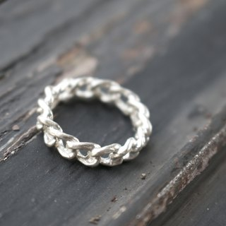 < ☞ Hand in Hand ☜ > Silver - Chain Ring (0303)