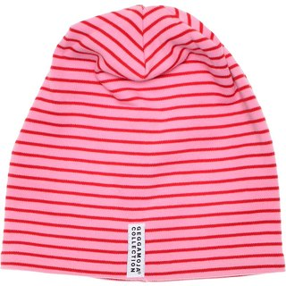 [Nordic children's clothing] Sweden organic cotton striped hat red / pink