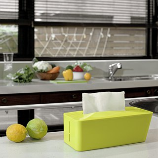 Tissue. Know Automatic pop-up tray Lime yellow