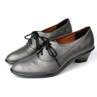 Elegant gray oxford shoes pointed │