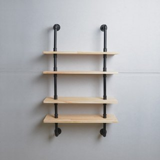 Industrial wind multi-functional water pipe shelf _ black matte E style
