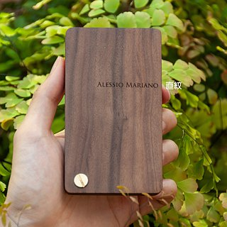 Rotating walnut solid wood business card case / business card holder / customized 11.14-12.27 free gift packaging