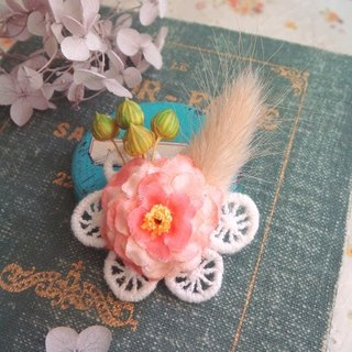 Garohands orange pansy pink rabbit tail grass Melaleuca small star fruit gift handle pin F045