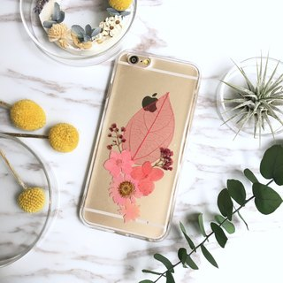 Pink Control Declaration:: Real Flower Phone Case / IPHONE/SAMSUNG/LG/SONY