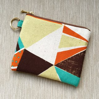 [Birthday / Christmas / purse] Lucky keychain purse - geometric color