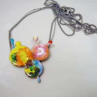 Rainbow Bubbles Rainbow Bubbles enamel necklace