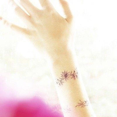 花圈鍊子-2入紋身貼紙 原創手繪設計
