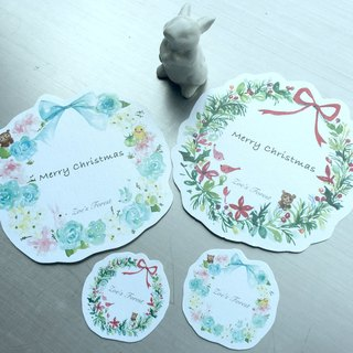 Zoe 'forest 2016 limited edition handmade Christmas wreath card