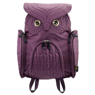 Morn Creations Genuine Classic Owl Backpack - Purple (L) (OW-301-PP)