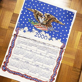 2000 American early years cloth calendar calendar exotic style