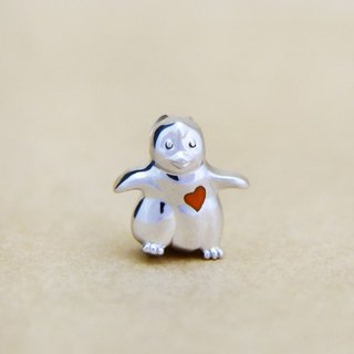 Moon Gift【Wonderland】Baby Penguin (Tangerine Heart) 925 Silver Necklace