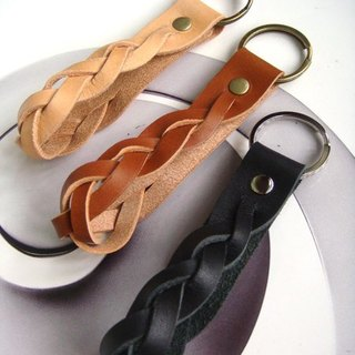 Twisted leather key ring - colors handmade leather tanned models _ Offer Special introductory paragraph