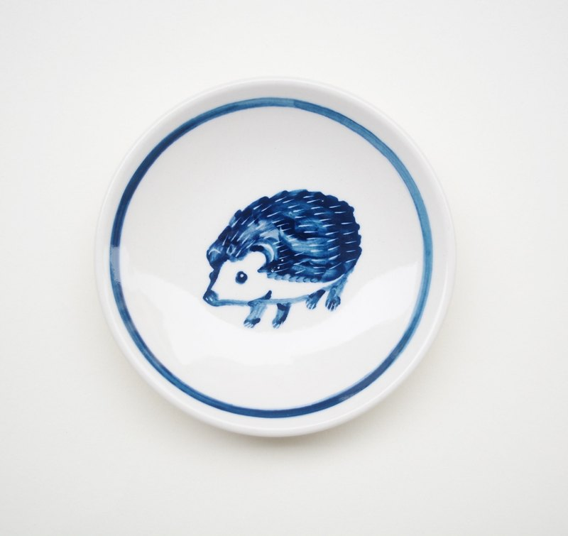 Small hand-painted porcelain - hedgehog