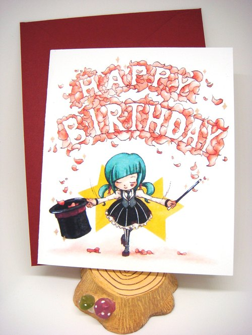 Pinmagic Timeprintbirthday Card With Envelope At Your Choice