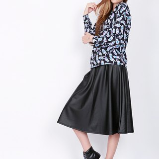 ZIZTAR style Leather Skirt