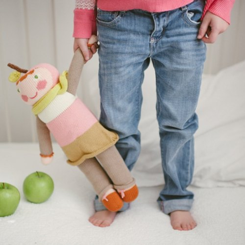 American Blabla Kids | Cotton Knitting Doll (Big Only) - Shy Pink Apple B21040140