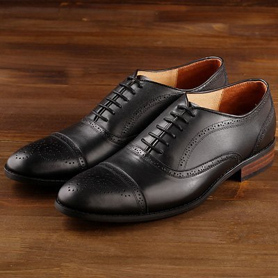 US-‧ Man Vanger elegant gentry were carved retro shoes ║Va85 wild black (in Taiwan)