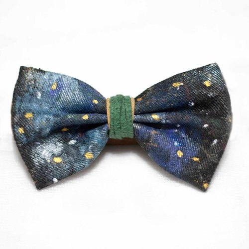 Hand-painted tie - Space