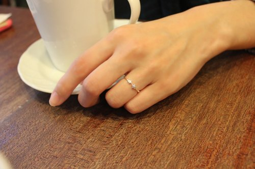 [Limited] ◆ hippie ◆ Twin Star│ Gemini High quality simple wild s925 sterling silver ring opening of the joint knuckles Friendship Ring
