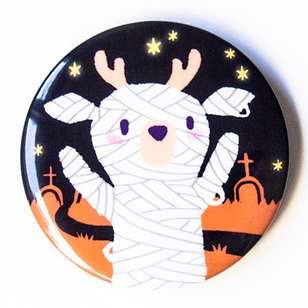 [SamBou] great circle Halloween limited edition badge: Mummy laugh Card