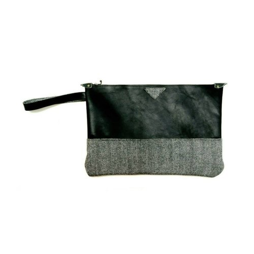 [Manual] British possessions Lady Han (this cloth out of print, you can pick another color) Herringbone wool material Clutch