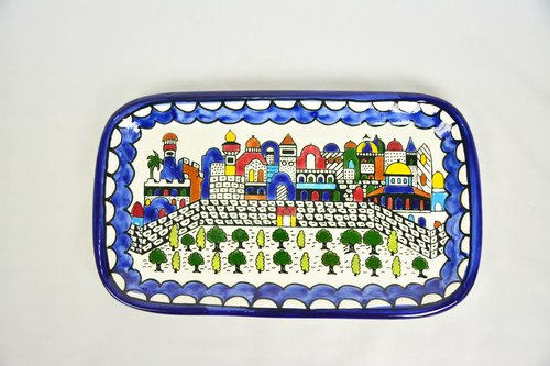 Square long plate / fruit plate _ fair trade