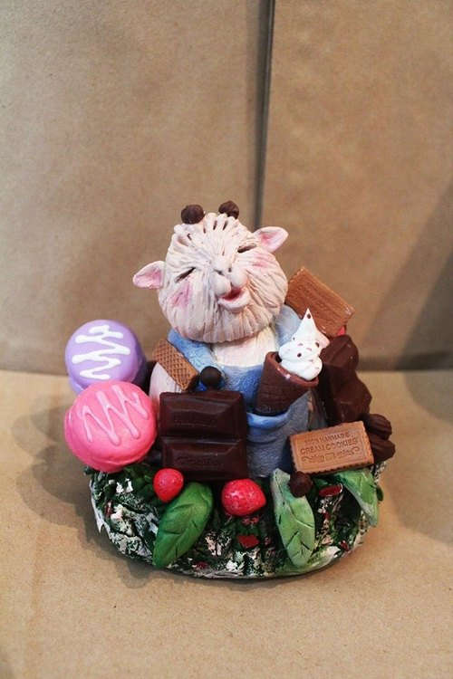 [Moses's warehouse] Frankie fat chocolate macaroon dessert decorations