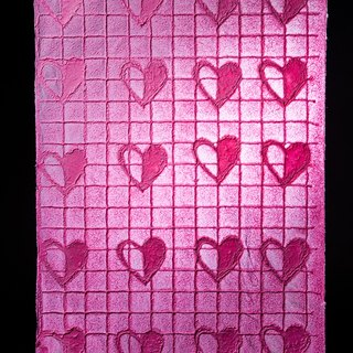 Valentine's Day hand-embossed pattern wrapping paper - love (light)