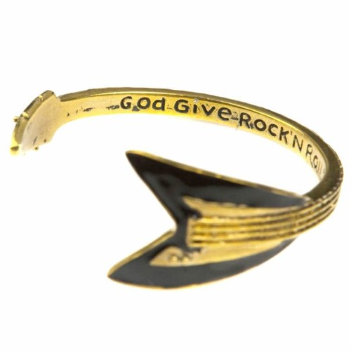 Flying V bangle in brass ,Rocker jewelry ,Skull jewelry,Biker jewelry