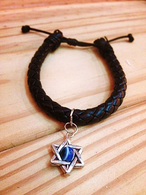 Purple Dragon > > > pentagram evil eye weave bracelet