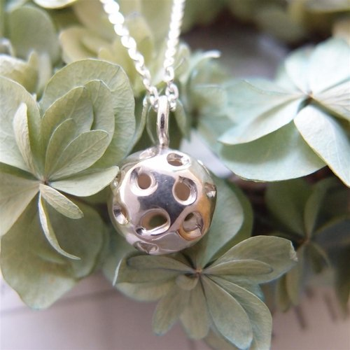Irregular balls --- 925 sterling silver necklaces