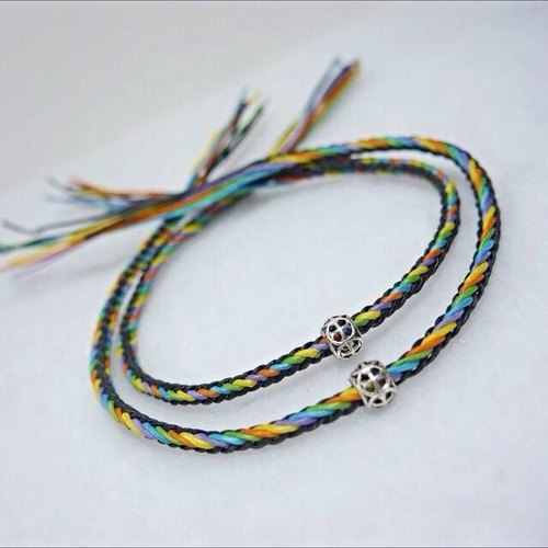 S & A colorful wax silver anklets → Great Hot Line